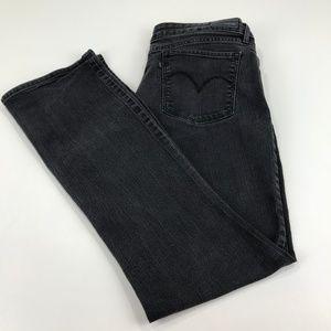 Levi's Black Demi Curve Mid Rise Boot Cut Jeans